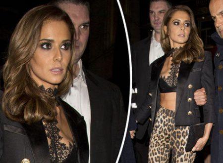 Cheryl Fernandez-Versini looks glum as she flaunts flat tummy at Kimberley Walsh's hen do
