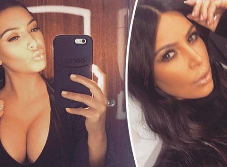 Kim Kardashian flaunts serious cleavage as she strips off for sexy swimwear shoot