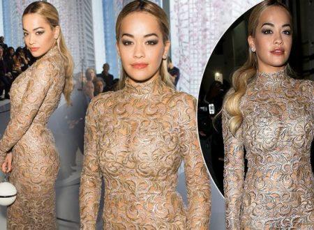 Rita Ora stuns in gorgeous gown as X Factor judge steps out at Paris Fashion Week
